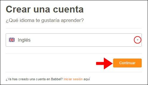 Abrir mi cuenta Babbel - 743