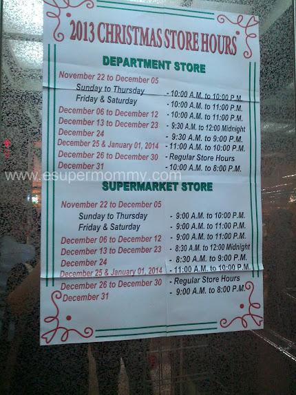 Landmark Christmas Store Hours 2013