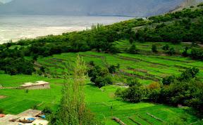 Beautiful view of Machlu Khaplu, Skardu, Gilgit Baltistan.