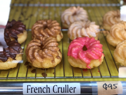 donut, glaze king, cruller