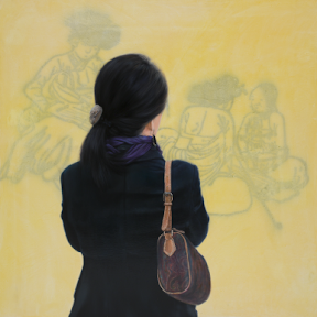 정종기, talk, 2010, 150x150cm, oil on canvas 1