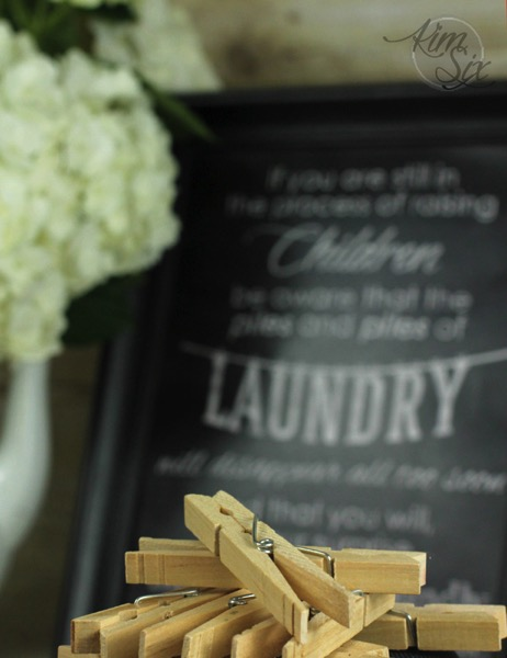 Clothespins chalkboard printable art