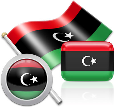 Libyan flag icons pictures collection