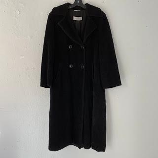 Max Mara Black Alpaca-Blend Coat