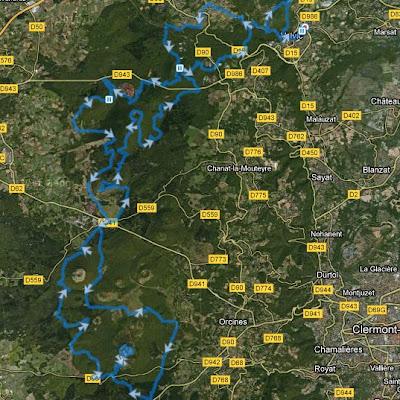 Trail de Vulcain 2012 - parcours