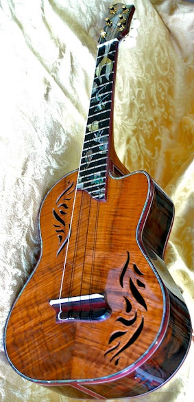 Brian Derek Keirnan k side uke inlayed tenor Ukulele