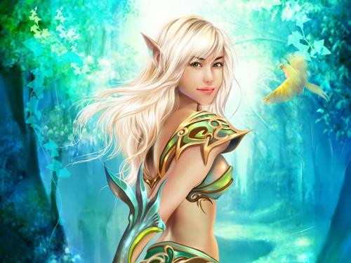 Elf Girl In Forest, Elven Girls