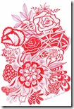 358 Zentangle Red Flowers