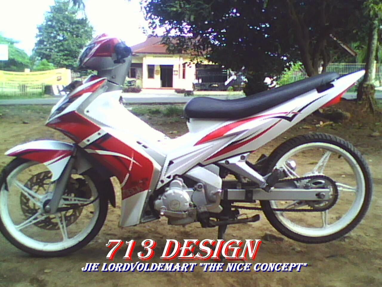 Modif Yamaha Byson Warna Putih