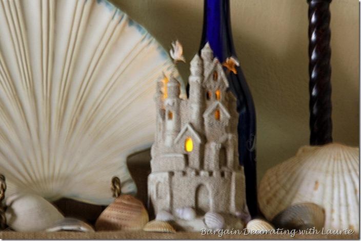 Sand castle candle holder
