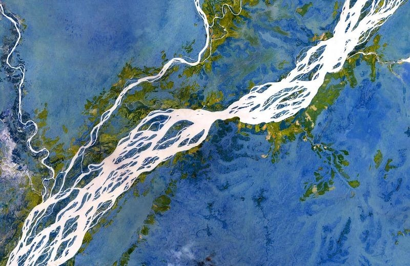 The stunning beauty of braided rivers amusing planet - Spacebattles com ...