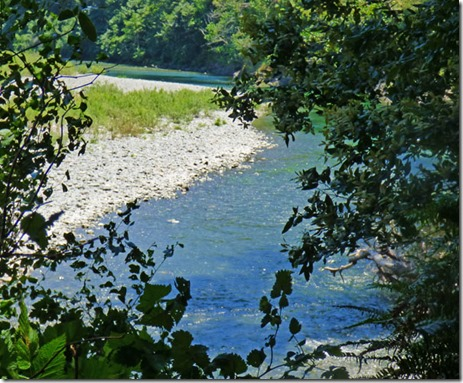 Chetco River as seen from the Riverview Trail, Alfred A Loeb State Park, Brookings OR