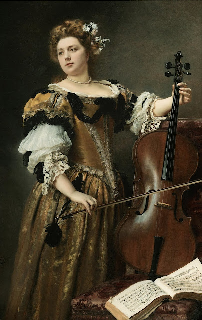 Gustave Jean Jacquet - The Cello Player