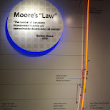 moore's law at computer history museum in silicon valley in Mountain View, California, United States