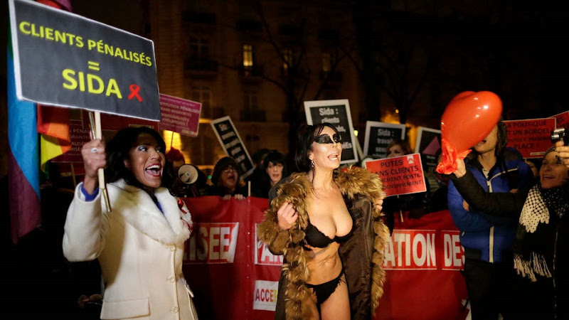 france prostitutes protesting