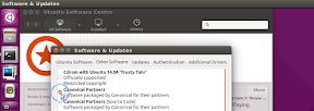 Instalar Flash en Linux Mint y Ubuntu. Software Center. Canonical Partners.