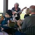 Beth Pederson played at our wine lunch.