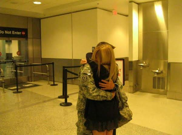 My Daughter And Her Soldier Boy Jacob..a Joyous Yet Tearfilled Reunion
