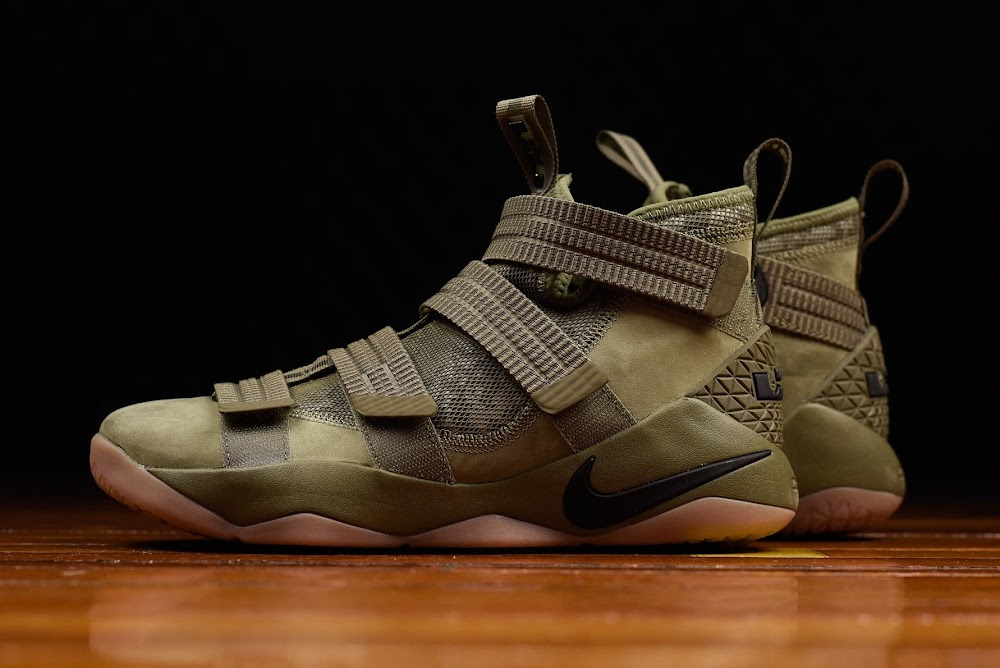 d123eb75a4a3 ... Closer Look at Nike LeBron Soldier 11 Olive ...