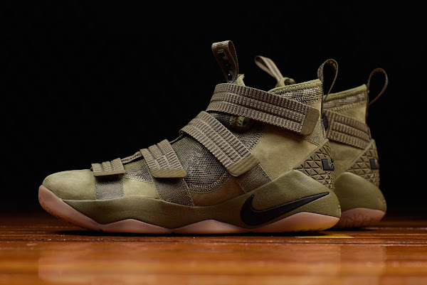Closer Look at Nike LeBron Soldier 11 Olive