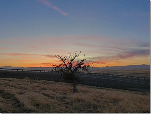 Sunset over the Coastal Range, from California Aqueduct Vista Point, I-5