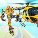 Helicopter Robot Transform War – Air robot games icon