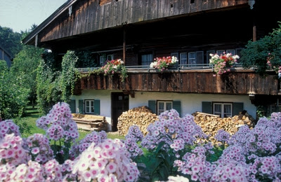 Farm house in the district of Bad Toelz. From Driving the Alpine Road in Germany
