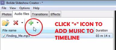 bolide-slideshow-creator-add-music-to-timeline