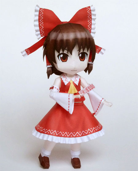 Touhou Project Reimu Hakurei Paper Model