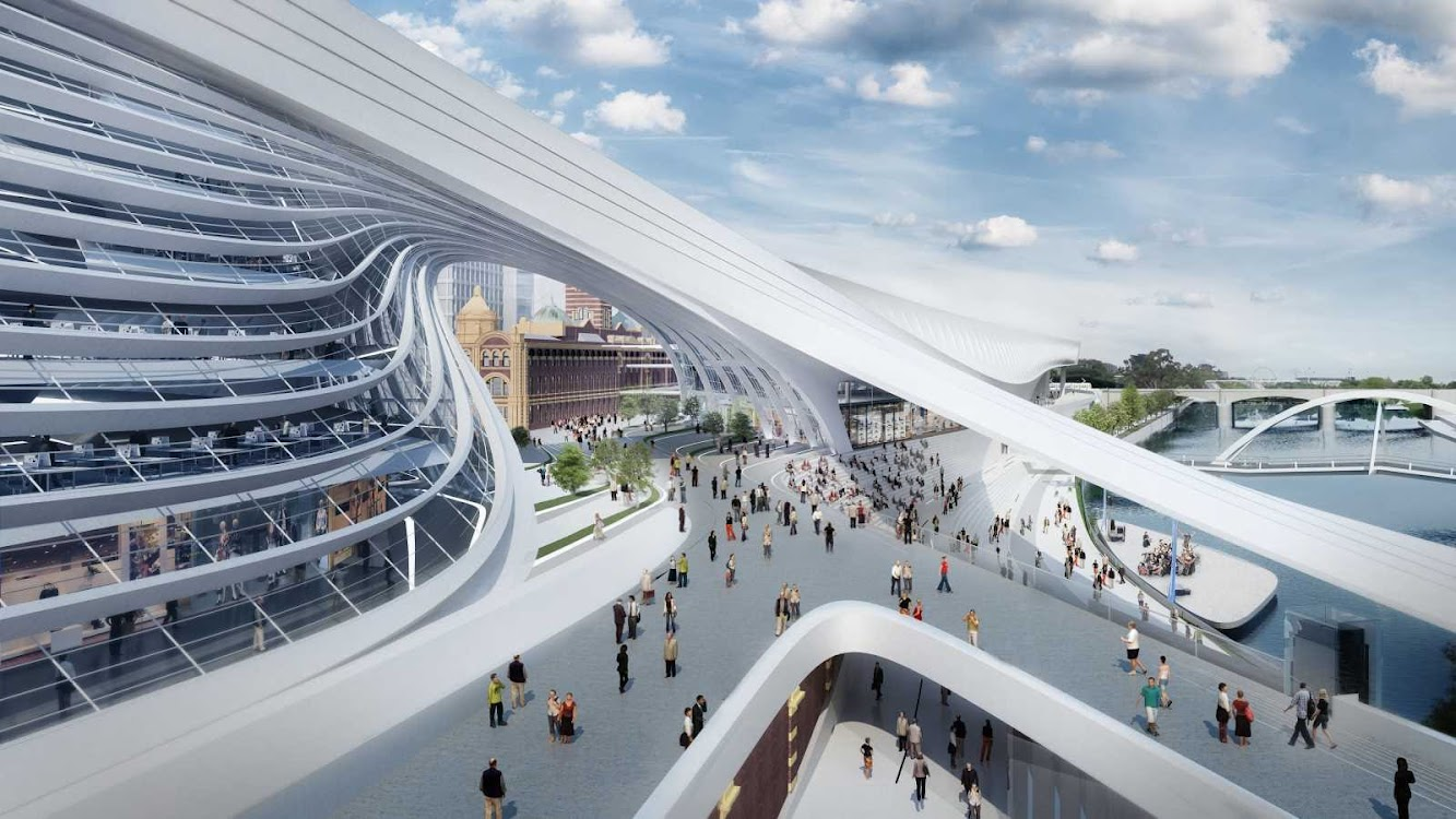 04-Flinders-Street-Station-Design-Competition-by-Zaha-Hadid+BVN-Architecture