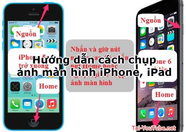 Hướng dẫn cách chụp ảnh màn hình iPhone, iPad