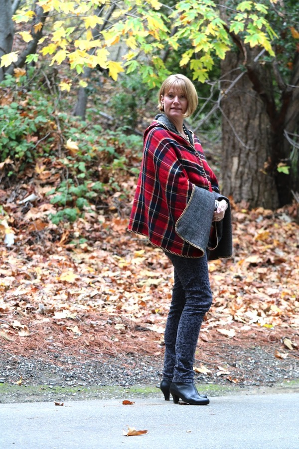 Jacket Society Plaid Poncho 3