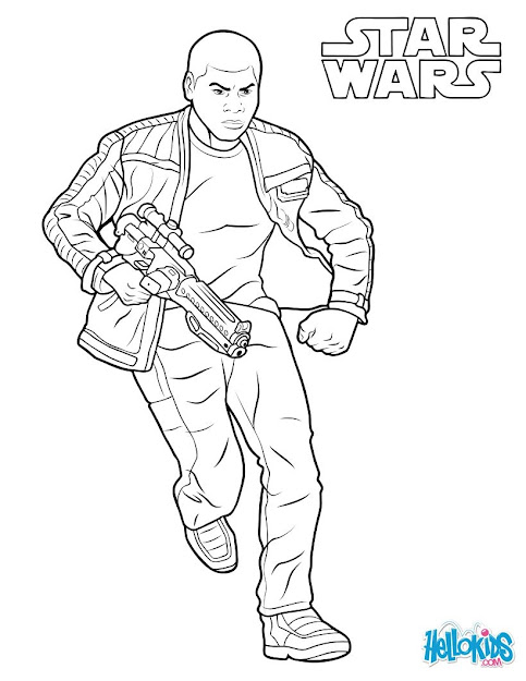 Finn  The Force Awakens Coloring Page