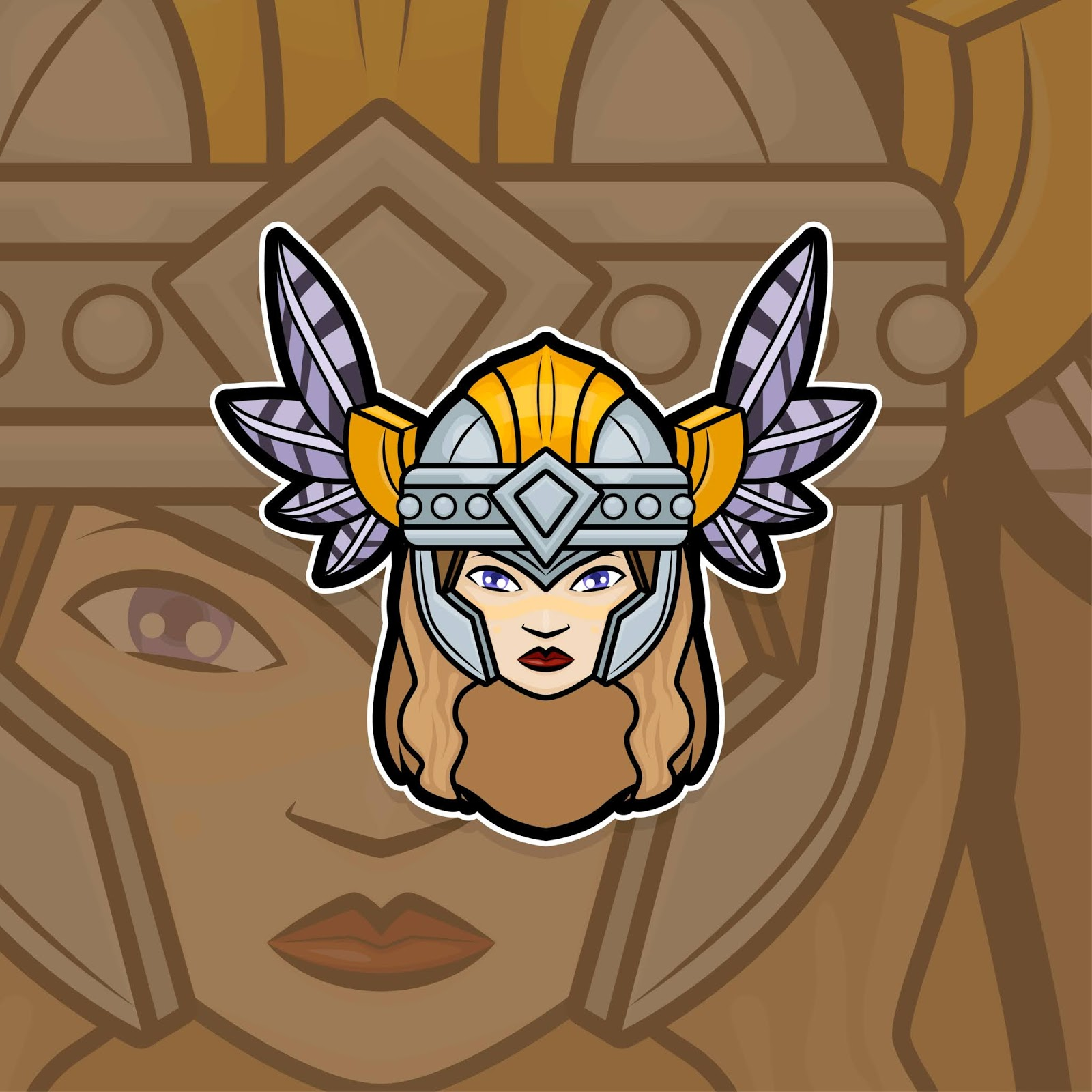 Esport Gamer Logo Freya Free Download Vector CDR, AI, EPS and PNG Formats