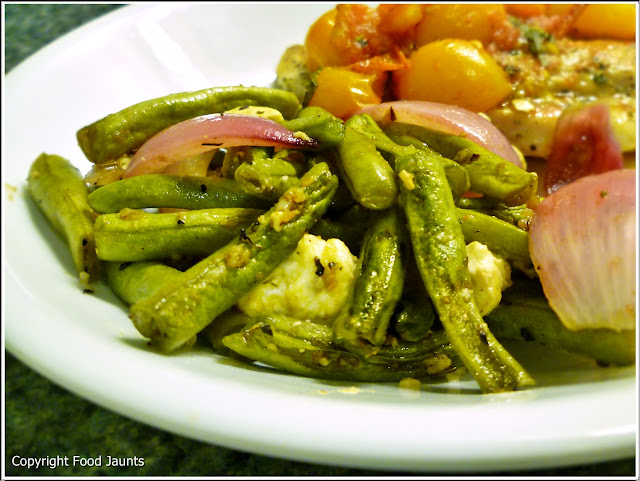 Roasted Green Beans with Feta