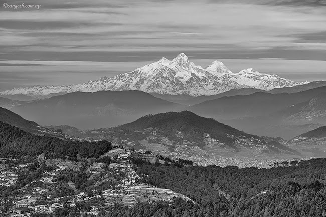 Himalaya, Black and white, Kathmandu