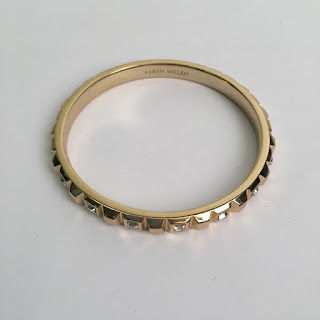 Karen Millen Diamante Gold-toned Bangle