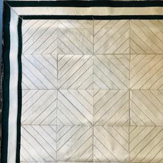 Cowhide Geometric Patchwork Carpet