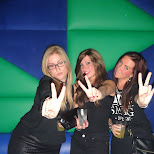 peace signs at Club Air in Amsterdam, Noord Holland, Netherlands