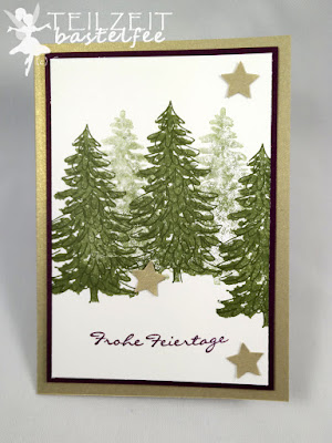 Stampin' Up! - In{k}spire_me #221, Color Challenge, Kling Glöckchen, Jingle all the Way, Immergrün, Evergreen, Stars, Christmas, Sterne, Weihnachten