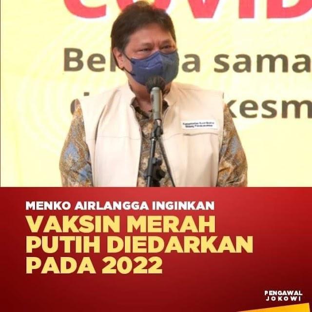 Vaksin Merah Putih di edarkan pada 2022