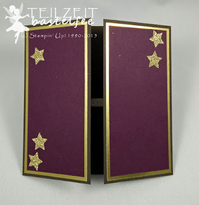 Stampin' Up! - In{k}spire_me #227, Christmas, Weihnachten, Glamour Advent, stars, Sterne, Gate Fold Card, Project Life Hello December Accessory Pack, Kling Glöckchen, Jingle all the Way, Gold