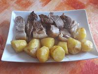 Rouelle de porc aux pommes de terre