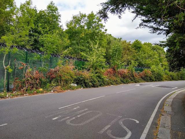 Fence perhaps 100 metres?