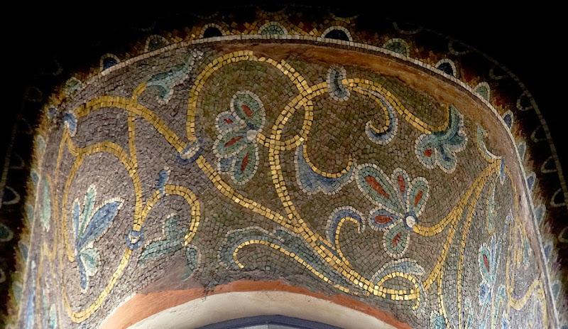 29. Byzantine Mosaic Ornament. XII Century. The Church of Santa Maria dell'Ammiraglio (La Martorana). Palermo. Sicily. 2013