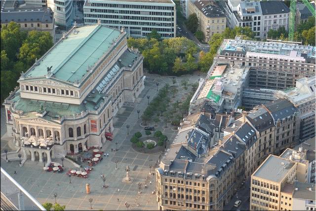 Alte Oper visto desde la azotea del Main Tower