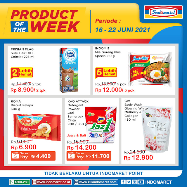 Promo Indomaret Product of The Week 16-22 Juni 2021