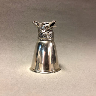 Gucci RARE Coin Silver Beaked Wolf Barware
