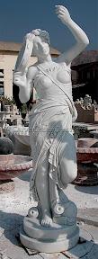 Female, Figure, Interior, Marble, Statues