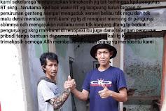 Dibangun RUTILAHU Dengan Dana Talang Ketua RT, Warga Lembur Sukun Kel. Purwawinganun Kab. Kuningan Ucapkan Terima Kasih